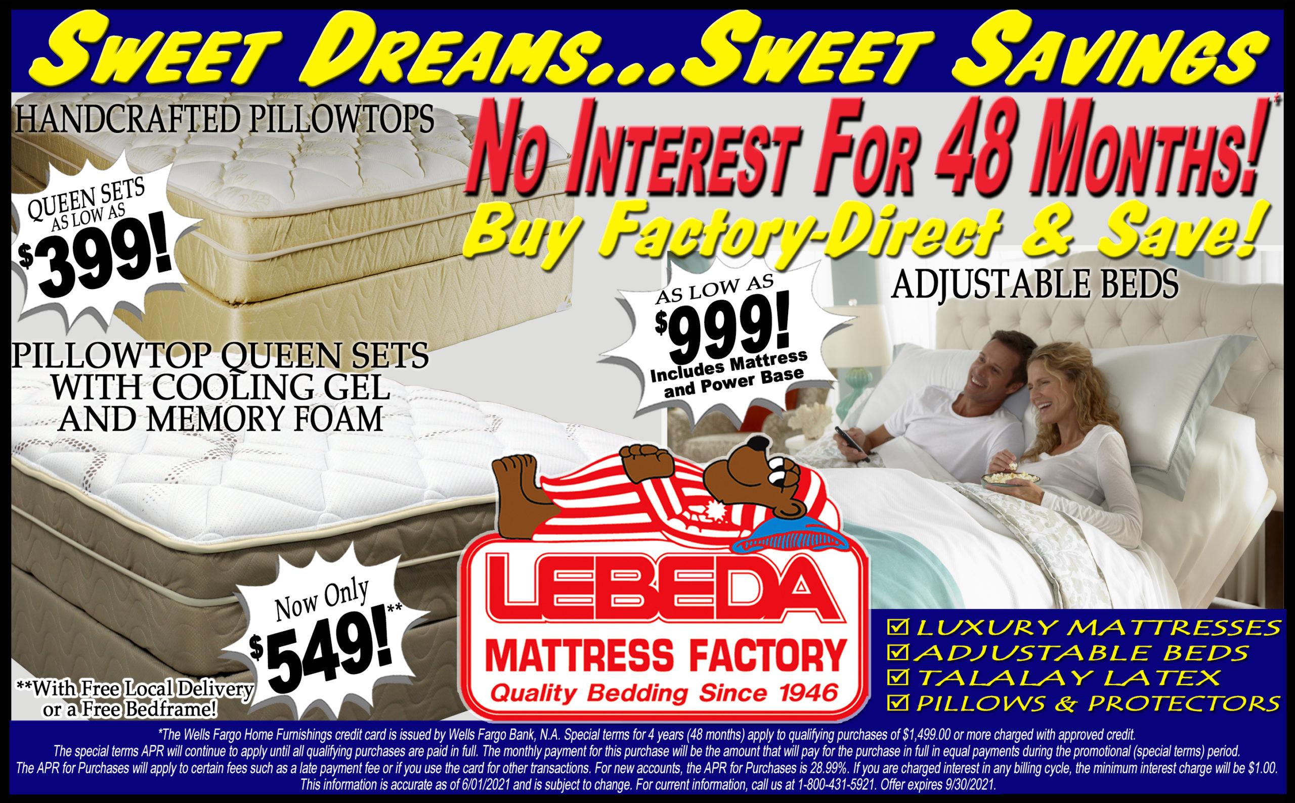 Sweet Dreams... Sweet Savings!